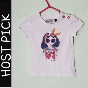 Maison Jean Bourget Graphic Summer Girl T-Shirt